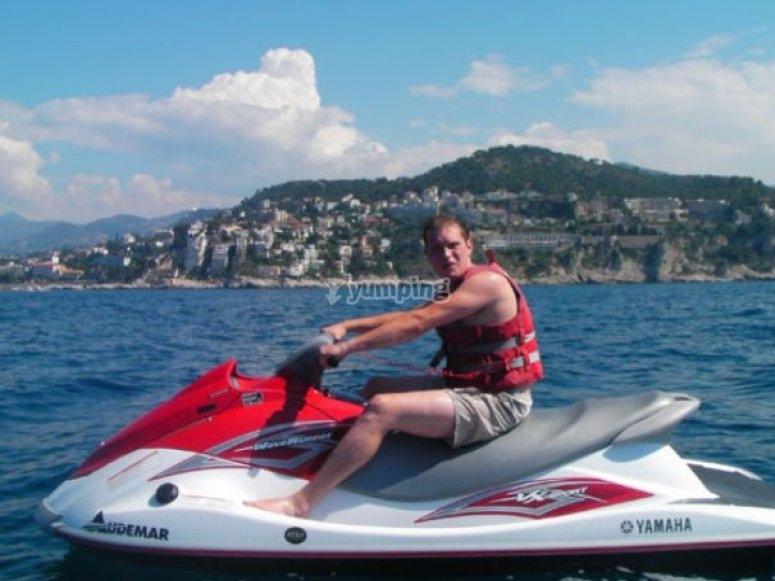 Cote d Azur en jetski sans permis