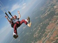 Ouverture du parachute a 1500 metres dans le Var