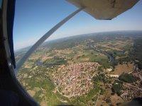 La vallee de la Dordogne vue de l´avion de Chute libre Dordogne