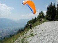 Decollage Parapente Mont Blanc