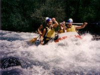 Rafting entre amis sur la Durance