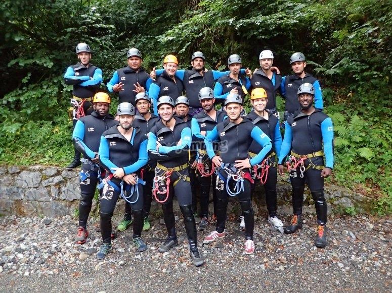 Groupe canyoning