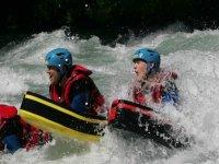 flotteur dans les rapides