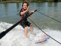 Sortie de l´eau contrôlée en ski nautique