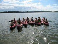 Canoe en groupe dans les Landes