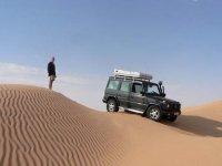4x4 au milieu des dunes