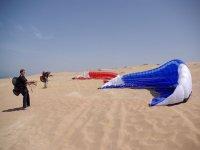 parapente dans les dunes du maroc
