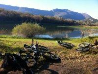Petite pause lors de la sortie vélo
