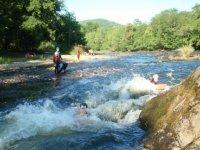 Les obstacles naturels de la riviere