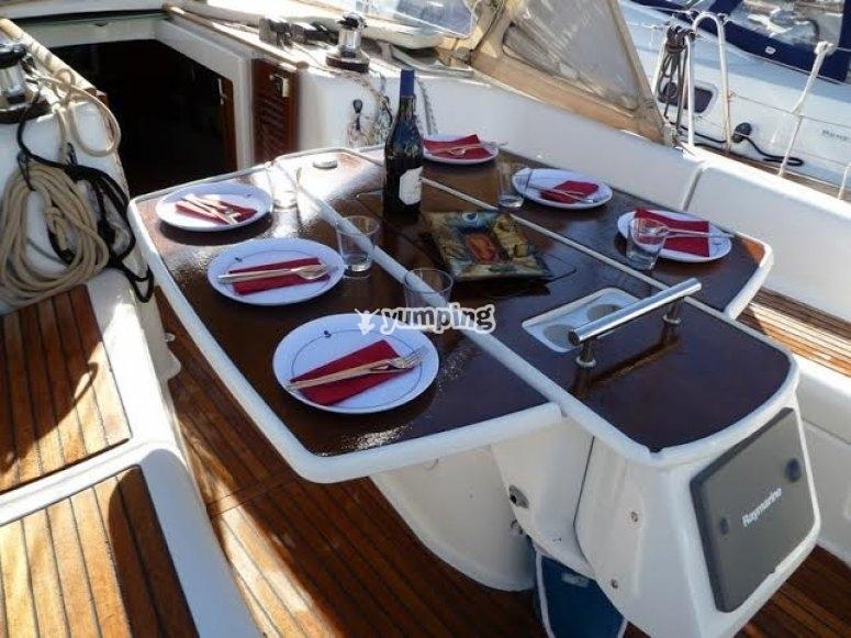 menu a bord