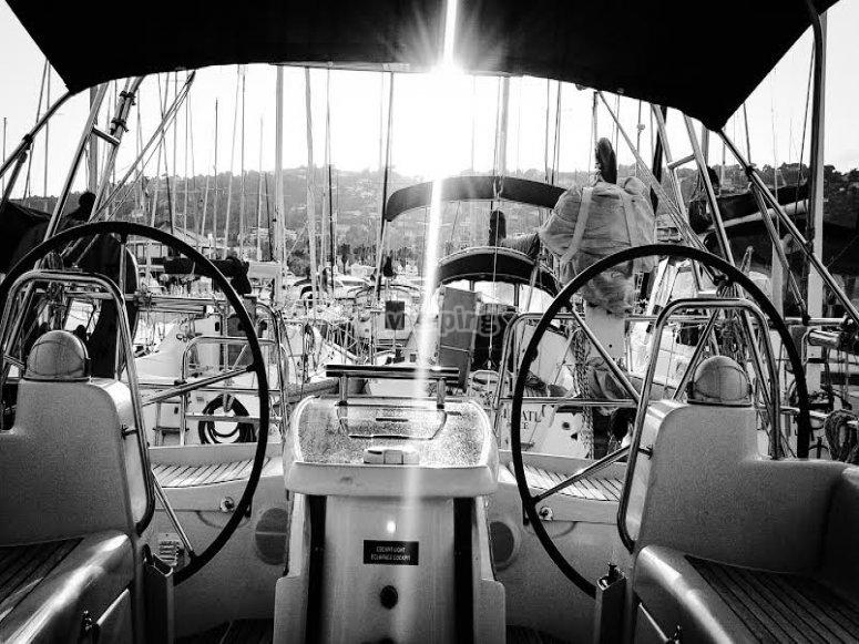 voilier dans les alpes maritimes