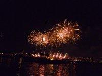 Les feux depuis le bateau Cannes