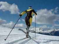 Sortie en ski de fond dans le domaine