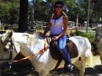 Randonnee equestre au soleil
