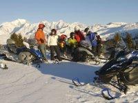 Motoneige au pied du Mont Blanc