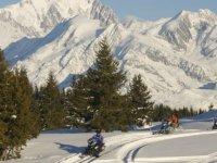 motoneige dans la montagne