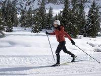 Itineraire facile en ski de fond a Risoul