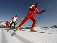 Cours de ski de fond a la Tania