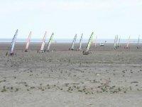 Les chars a voile en bord de mer