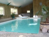 piscine chauffee et couverte