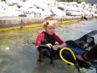 Plongee enfant en Isere