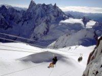 Skier sur le massif du Mont Blanc