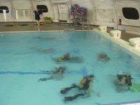Entrainement plongee en piscine