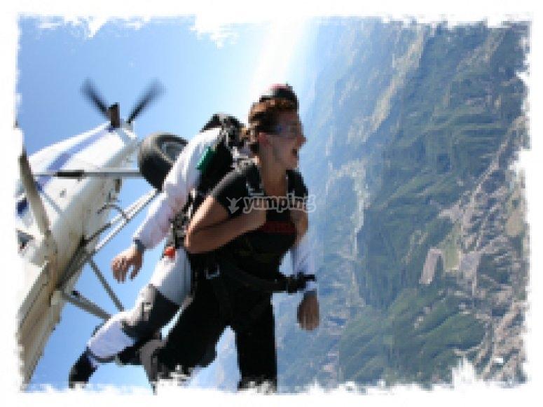 Saut parachute en tandem Hautes Alpes