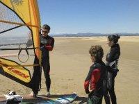 Windsurf debutant