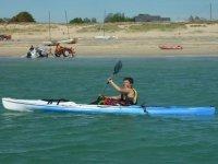 Kayak sur le littoral