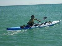 Sortie kayak en mer
