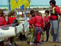 Initiation enfant au catamaran