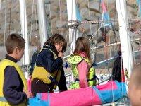 Ecole nautique enfant dans la Manche