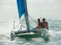 Navigation sportive catamaran