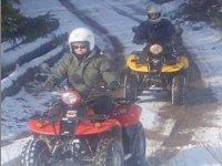 Randonnee quad dans la neige