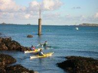 Faire du Kayak en mer