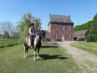 Randonnee equestre en Seine Maritime