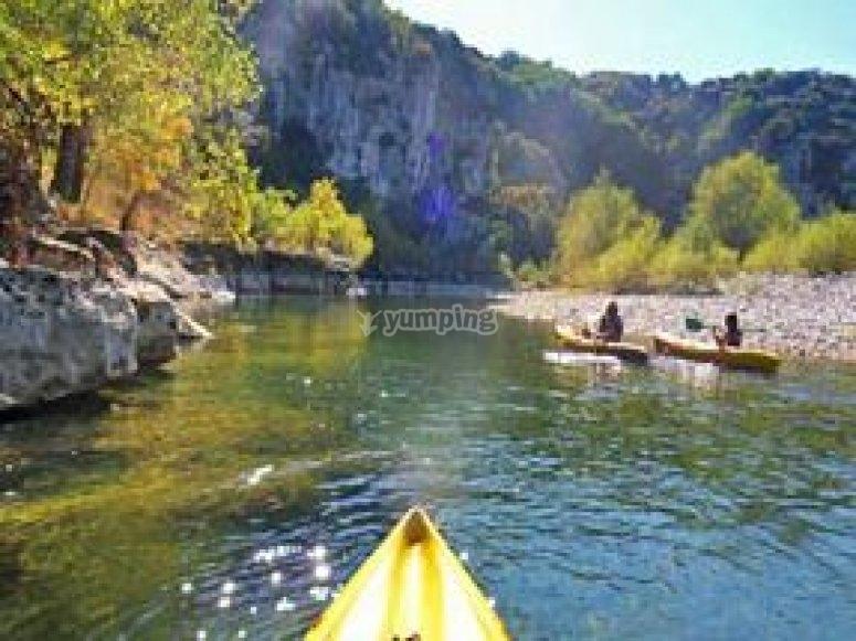 Canoe dans les Gorges de l Herault