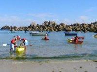 Partir en mer dans un kayak