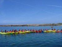 Sortie groupee kayak de mer