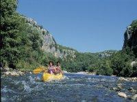 Chassezac et canoe en famille