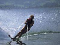 ski nautique avec V Boat