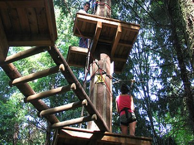 La Forêt de l'Aventure de Jaujac