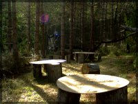 Tables du terrain de paintball
