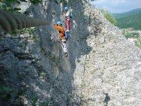 Passage du funambule sur la Roche au Dade