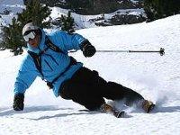 Skier avec des professionnels