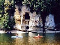 Plusieurs jours sur la Dordogne en kayak de location