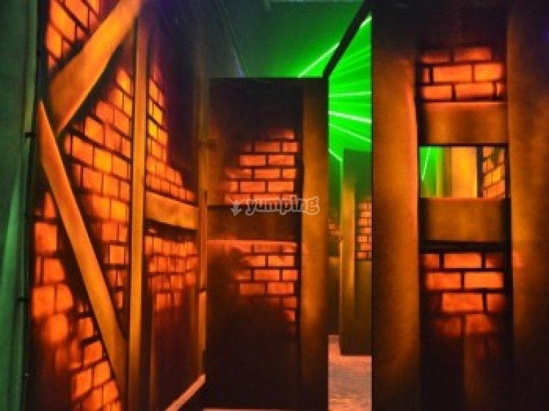 Un labyrinthe de 600 m2