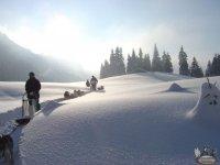 Les paysages enneiges de Haute Savoie