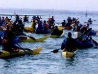 Kayac en pleine mer